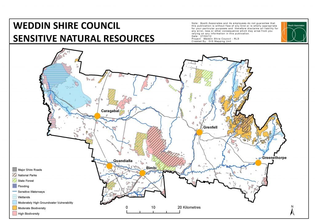 weddin shire council sensitive natural resources